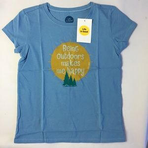 NWT Girl's Size 10 Life Is Good T-shirt 🌲🏕